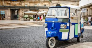Mini trucks in Lucca