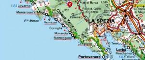 map cinque terre