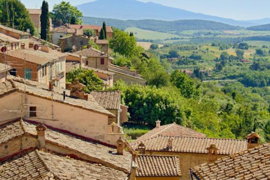 Montepulciano Village near Siena
