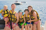 family tour to cinque terre by boat
