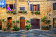 Small Old Houses in Narrow Streets of Montepulciano