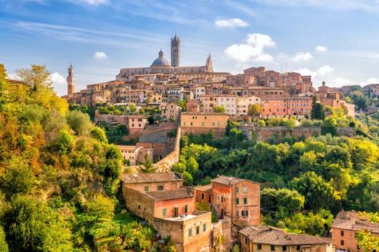 Siena San Gimignano from Montecatini