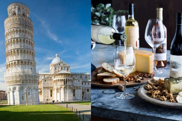 Pisa, Pasta and Chianti wine shore by Bellaitaliatour