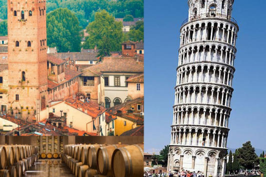 Tour from La Spezia: Pisa Lucca and wine tasting