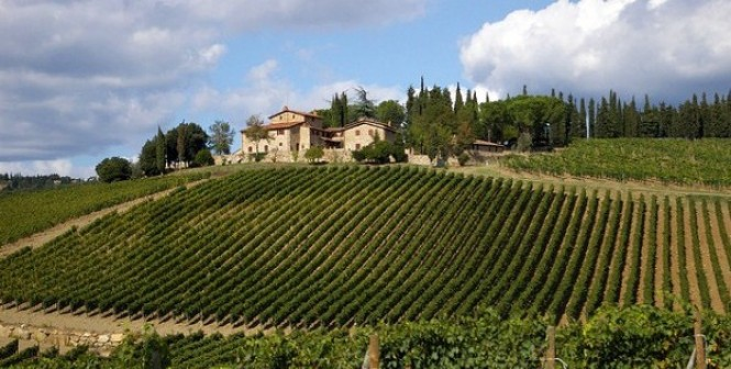 Chianti winery in Tuscany