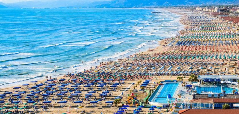 Versilia coast, Viareggio beaches